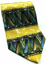 Buy Cocktail Collection Tequila Abstract Geometric Blue Gold Novelty Silk Tie