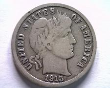 Buy 1915 BARBER DIME FINE F NICE ORIGINAL COIN FROM BOBS COINS FAST SHIPMENT