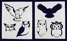 Buy Owl Stencils - 2 Pc Set 8x10 Stencils 14 Mil Mylar