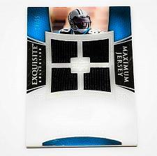 Buy NFL DWAYNE JARRETT PANTHERS 2007 UPPER DECK EXQUISITE QUAD JERSEY SP 19/75 MINT
