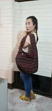 Buy Thai HMONG Hill Tribe Ethnic Rose Floral Embroidered Tote Bag Handbag BS-131