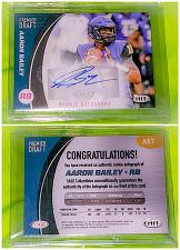 Buy NFL Aaron Bailey Autographed 2017 Sage Hit Rookie Premiere Draft Rc Mint