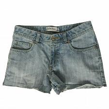 Buy Old Navy Girls Denim Booty Shorts Size 14 Regular Solid Blue Pockets