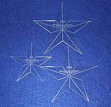 """Buy Star Quilt Templates. 4"""",5"""",6"""" - Clear 1/8"""" Thick Acrylic"""