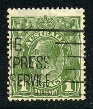 Buy Australia #114 King George V; Used (2Stars) |AUS0114-01