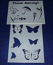 """Buy Mylar 2 Pieces of 14 Mil 8"""" X 10"""" Spring Stencils- Painting /Crafts/ Templates"""