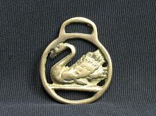 Buy SMALL Swan Bird Horse Brass Medallion Harness Vintage