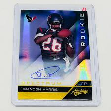 Buy NFL BRANDON HARRIS HOUSTON TEXANS AUTOGRAPH TO 2011 PANINI SPEKTRUM RC MINT