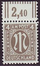 Buy GERMANY Alliiert AmBri [1945] MiNr 0018 B ( **/mnh )