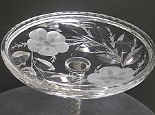 Buy American Brilliant Period Cut Glass signed Signet compote Antique abp