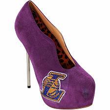 Buy New Women's Los Angeles Lakers Cuce Shoes Purple Crusader High Heel Bootie