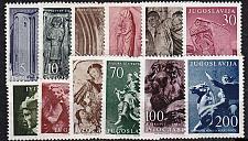 Buy JUGOSLAVIA [1956] MiNr 0776-87 ( **/mnh ) Kunst