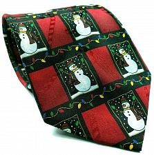 Buy Hallmark Yule Tie Snowman All Over Print Christmas Lights Novelty Necktie