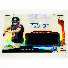 Buy NFL TOM SAVAGE HOUSTON TEXANS AUTOGRAPHED 2014 TOPPS FINEST JUMBO JERSEY RC MINT