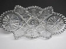 Buy American Brilliant Period hand Cut Glass oblong shape dish ABP