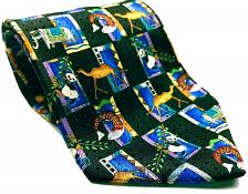 Buy Unicef Animal Camel Elephant Fish Panda Men's Necktie 100% Silk