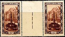 Buy GERMANY Saar [1926] MiNr 0108 ZW2 ( */mh ) Paar mit Zwischensteg