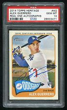 Buy 2014 TOPPS HERITAGE REAL ONE AUTO ALEX GUERRERO, PSA 10 GEM MINT (26933471)