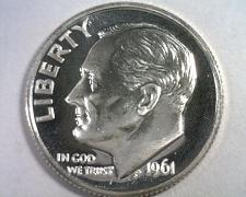 Buy 1961 ROOSEVELT DIME SUPERB PROOF CAMEO SUPERB PR CAM. NICE ORIGINAL COIN
