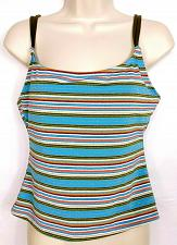 Buy Athena Pick Your Fit Womens Tankini Swimsuit Top Size 8 Blue Green White Striped