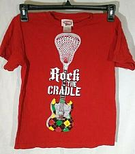 """Buy Boy's """"Rock the Cradle"""" Guitar Graphic Large Short Sleeve T-Shirt"""