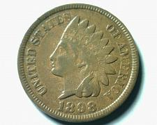 Buy 1898 INDIAN CENT PENNY EXTRA FINE / ABOUT UNCIRCULATED XF/AU NICE COIN EF/AU
