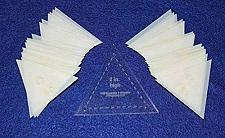 Buy Mylar 2 Inch High Equilateral Triangle 51 Piece Set Quilting / Sewing Templates