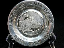 Buy Gordon's Gin Pebble Beach Pewter Plate World Pro Am Golf 1984 Wilton USA 6 inch