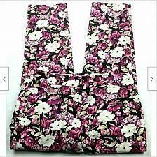 Buy NWT WHBM Womens Slim Ankle City Pants Size 2R Floral Pink White Black Stretch