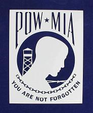 "Buy POW-MIA Flag Stencil 10.5"" x 13.42"" Painting /Crafts/ Templates"