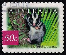 Buy Australia #2165 Striped Possum; Used (0.80) (2Stars) |AUS2165-01XBC
