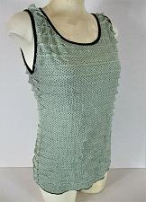 Buy CAROLE LITTLE womens Small sleeveless green black TIERED stretch top (H)
