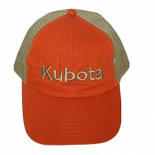 Buy Kubota Mens Orange Tan Mesh Trucker Strapback Hat Adjustable One Size