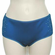 Buy NWT Clover Canyon Laser Cut Hipster Bikini Swim Bottom Small Solid Blue