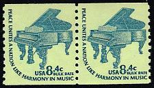 Buy US #1615C Steinway Grand Piano Coil Pair; MNH (4Stars) |USA1615Cpair-01
