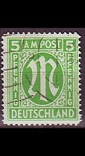 Buy GERMANY Alliiert AmBri [1945] MiNr 0012 A ( O/used )