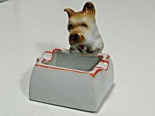 Buy Vintage Porcelain Dog Figural Ashtray Snuffer Japan Maruyama Toki Yamashiro Ryu