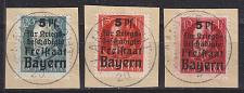 Buy GERMANY Bayern Bavaria [1919] MiNr 0171-73 A ( BStk ) [01]