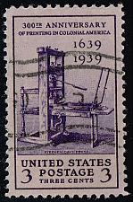Buy US #857 Printing Tercentenary; used (0.25) (3Stars) |USA0857-11