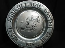 Buy Royal Agricultural Winter Fair 1975 Horse Jump Award Pewter Plate Wilton 10 in