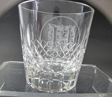 "Buy Hand Cut double on the rocks Glass hand polished Custom "" H"""