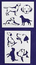 "Buy Labrador Retriever Dog Stencils-Mylar 2 Pieces of 14 Mil 8"" X 10"" - Painting /Cr"