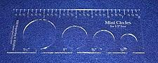 """Buy 4 Mini Circles Template for 1/2"""" Foot Clear with Ruler 1/8"""" Thick"""