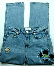 Buy Loft Womens Vintage Straight Jeans Size 0 Embroidered Floral Medium Wash Denim