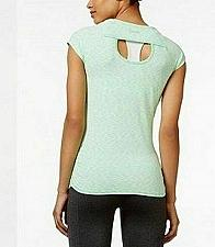 Buy Calvin Klein Performance Women Workout Space Dye Cap Sleeve Tee Aqua green sz M