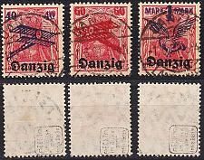 Buy GERMANY REICH Danzig [1920] MiNr 0050-52 ( OO/used ) [01]