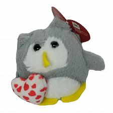 "Buy NWT Bee Happy Valentine Heart Gray Owl Plush Stuffed Animal 3.75"""