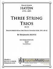 Buy Haydn - Three String Trios, Op. 53