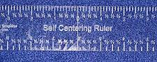 """Buy Laser Cut Self Centering Ruler 12"""" - ~1/4"""" Thick -Imperial"""