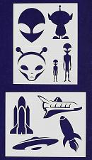 Buy Alien/Spaceship Stencils -2 pc set-Mylar 14mil - Painting /Crafts/ Templates